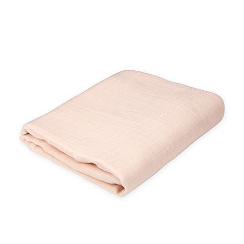 Oliver & Rain Baby Swaddle Blanket - Newborn 100% Organic Cotton Solid Blush Pink Muslin Swaddle Blanket