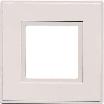 2 x Doigt Plaque Blanc Double Électrique Lumière Socket Switch