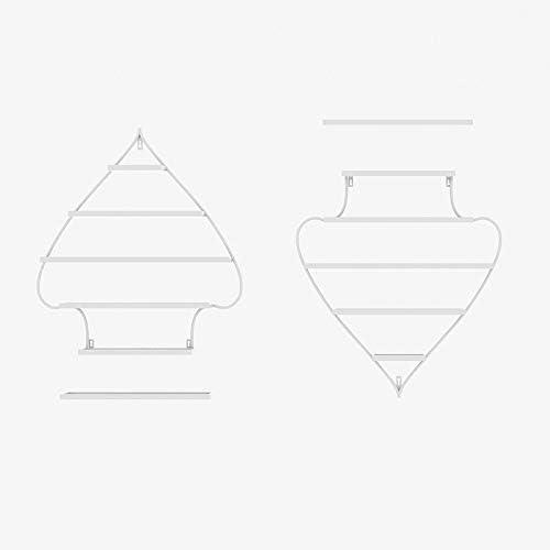 壁に取り付けられた金属のマニキュアの陳列台、5層の大広間のマニキュアの収納箱の仕上げの棚、ネイルサロンのポーランドの棚/構造の化粧品の貯蔵の仕上げの棚、ホームサロンビジネススパ用 ZDDAB