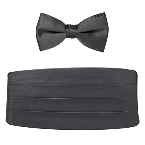 Poly Satin Bow Tie and Cummerbund Set ()