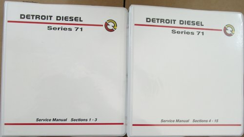 Detroit Diesel Series 71 Service Manual # 6SE164 (2 Volume Set (Sections 1-15)) ()
