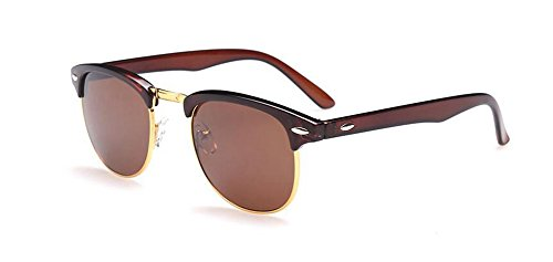 rond cercle Thé inspirées de vintage B lunettes retro métallique de du Lennon soleil polarisées style Tranche en FWA17w