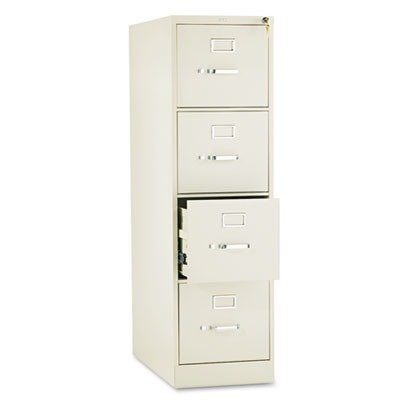 HON 310 Series Four-Drawer, Full-Suspension File, Letter, 26-1/2d, Putty