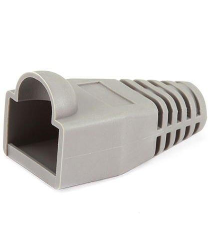 100 Pack Rj 45 Boot (FYL 2x 50 pcs RJ45 Connector Cap Boot Gray 100 Pack RJ-45 Cat 5/5e/6 Cable Plug Head)