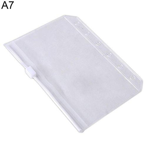 A5/A6/A7 Transparent Zipper Lock Envelope File Bag Documents Pocket Organizer