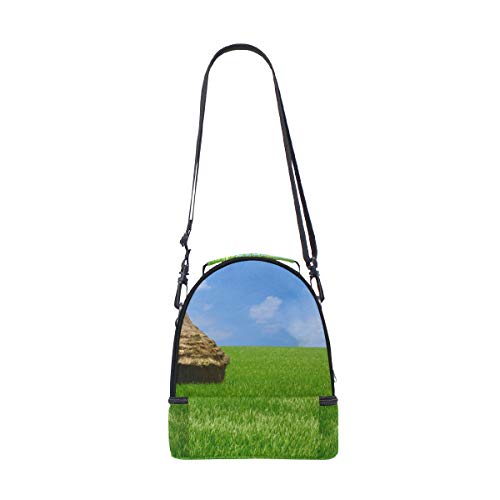 almuerzo color Bolso verde cielo para de azul arroz y doble correa ajustable picnic con para césped color 4xg6x