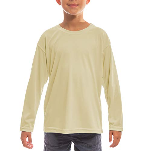(Vapor Apparel Youth UPF 50+ UV/Sun Protection Long Sleeve T-Shirt X-Large Pale Yellow)