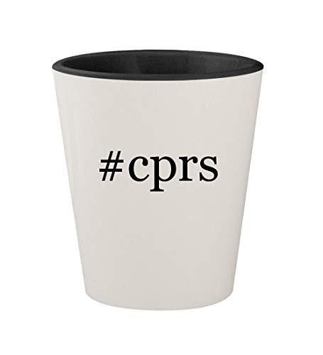 #cprs - Ceramic Hashtag White Outer & Black Inner 1.5oz Shot Glass
