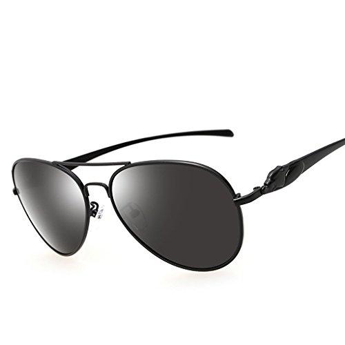 la Deporte la de HD 400 Ultraligero Sol al Hombres Libre Gafas Lente de de Unisex los polarizadas Fuerza Retro de Vendimia metálico UV Marco para A la Aire Color protección A aérea de Gafas de la qSwIvU1w