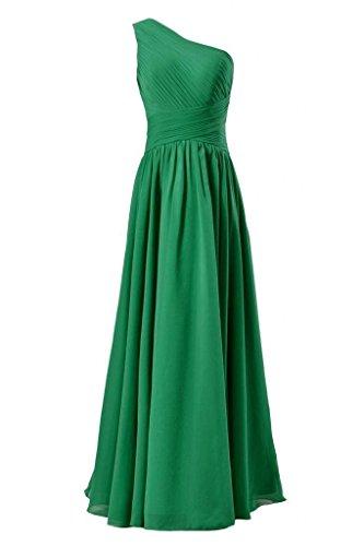Dress Dress Party Vintage Chiffon BM351L Shoulder One 29 green Bridesmaid DaisyFormals ExwZdq05Z