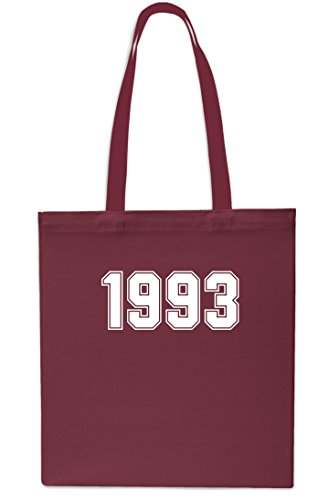 1993 MAROON 10 Beach Anniversary Gym Tote Year Bag GREY Shopping x38cm 42cm Birthday litres OUxrOnq