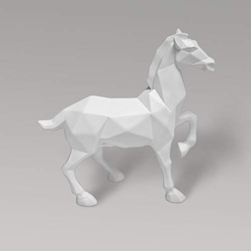 CoolPlus White Horse Decor Statue, Gifts, Christmas Ornaments, Home Decoration Accents Modern, Collectible Figurine Art, Artist Designed Handmade Statuary Sculpture, 10.2