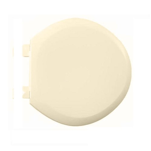 American Standard 5320.110.021 EverClean Round Front Plastic Toilet Seat with Cover and Slow Close Snap-Off Hinges, Bone