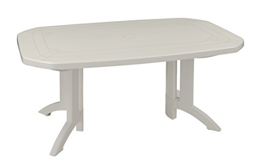 GROSFILLEX Vega Table, Blanc, 165 x 100 x 72 cm: Amazon.fr: Jardin