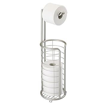 MDesign Toilettenpapierhalter Stehend   Moderner Papierrollenhalter Fürs  Badezimmer   Rostfreier Klopapierhalter Mit Stil   Mattsilber