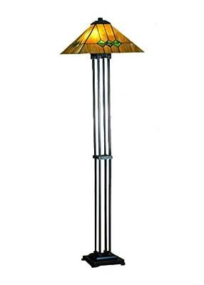 """Meyda Home Indoor Bedroom Decorative Lighting 63""""H Martini Mission Floor Lamp"""