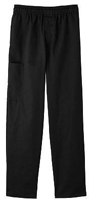 Five Star 18100 Adult's Pull-On Baggy Pant Black Large (Cotton Chef Pants compare prices)