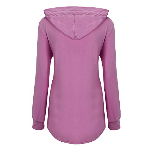 Femme Automne Mode Casual Outwear Rose Confortable Blouse Manteaux Hiver Pullover Roiper Tops Jumper Élégant Vif Veste Hauts Nouvelle Blouson Sport Sweatshirt Printemps wpFEEqB