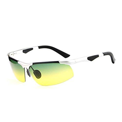 Polarisation Mann Sonnenbrillen Aluminium Magnesium Fahrspiegelbewegung Nachtblatt Angeln Reiten Gläser c2 K6rGL