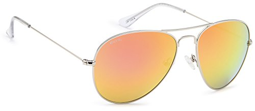 Beach Gal Sunglasses for Women - Vagabond Style, Silver, Singing Canary ()