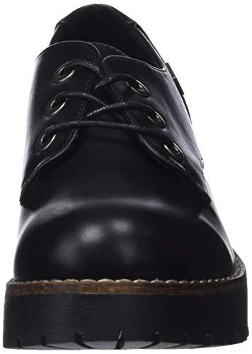 Oxford Nvbk Negro CHERBLU para 001 Coolway de Cordones Zapatos Mujer qIZa8U