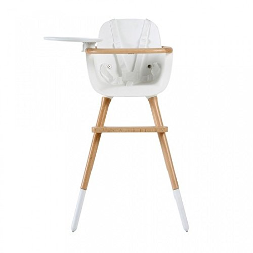 Micuna OVO High Chair with Fabric Belts, White/Natural
