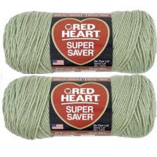 Frosty Heart - Bulk Buy: Red Heart Super Saver (2-pack) (Frosty Green, 7 oz each skein)