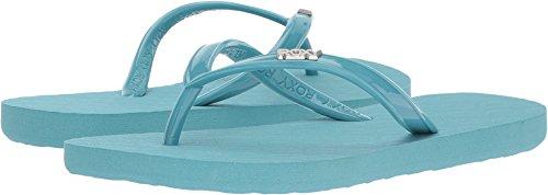 Aqua Sandals Girls (Roxy Girls' RG Viva Sandal Flip-Flop, Aqua, 5 M US Big Kid)