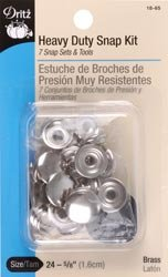 Dritz Heavy Duty Nickel Snap Kit (5/8 Inches) 7 per Package