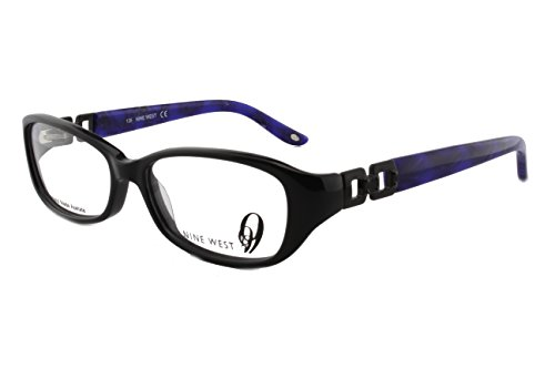 New Authentic Nine West NW456 Black/Purple (807) Womens Eyeglasses 52mm