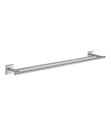 Smedbo SME_RS3364 Double Towel Rail, Brushed (Brass 24' Double Towel Bar)