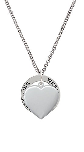 Heart Locket - Wrestling Affirmation Ring Necklace by Delight Jewelry