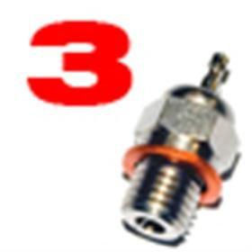 Jets Candela n.3 per Motori a Scoppio Glow Plug 1 pz