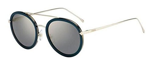 - New Fendi IRIDIA FF 0156/S V59/JO Blue Gold/Grey Bronze Sunglasses