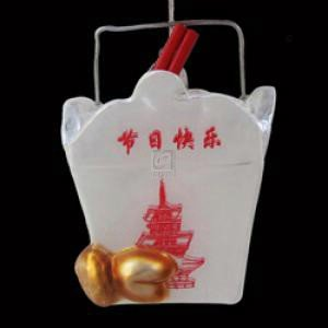 Kurt Adler 4-Inch Noble Gems Glass Chinese Food Container Ornament