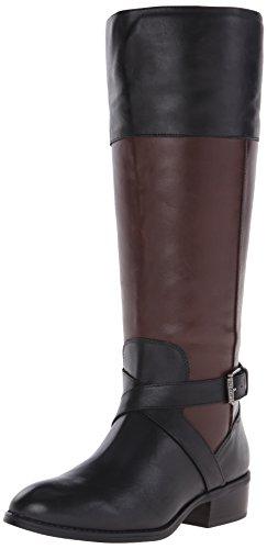 (Lauren Ralph Lauren Women's Maryann (Wide Calf), Black/Dark Brown, 7 B)