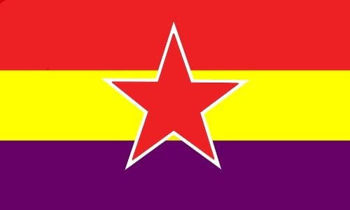 AZ FLAG Bandera ESPAÑA Republicana Estrella del EJÉRCITO Popular 150x90cm - Bandera DE LA Republica ESPAÑOLA 90 x 150 cm: Amazon.es: Jardín