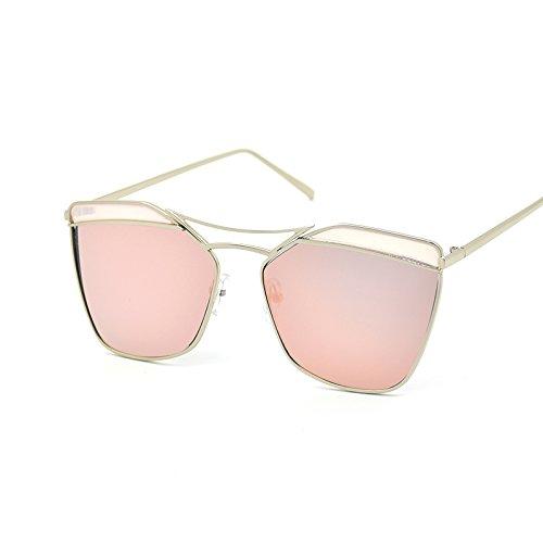 De De Sol Sol Creativas Personalidad CHIRH Gafas Silver Nuevas Pink De De Gafas Gafas Gran Sol De Moda 7U8UEH4W