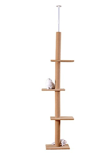 S-Lifeeling Cat Climbing Toys Tower Structures Cat Climber Tree Post Shelves Multilayer Platform Super Long Large Cat Climbing Tree Cat Tree Furniture Scratch
