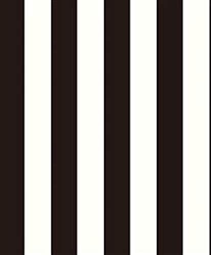 Grace & Gardenia G90176 Black & White Classic Stripe Wallpaper
