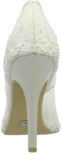 Menbur Wedding Amia - Cerrado de raso mujer marfil - Elfenbein (Ivory 04)