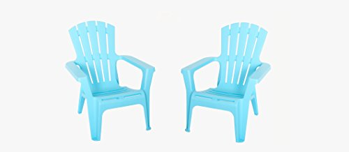 2 Adirondack Dining Chairs - Adirondack Chair, Set of 2, Perfect for Dining Set in Patio or Garden, Waterproof, UV Protected, Fade Resistant, Perfect for Year Round Use, Made of Polypropylene, Multiple Colors + Expert Guide