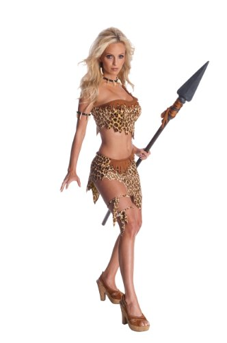 Secret Wishes Womens Tarzan Jungle Jane Costume, Leopard, X-Small -