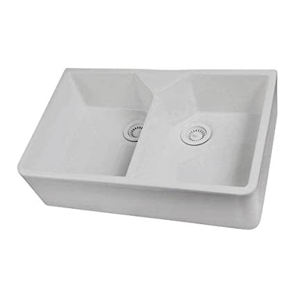Ordinaire Barclay FS31 31 Inch Fire Clay Double Bowl Farmer Sink, White