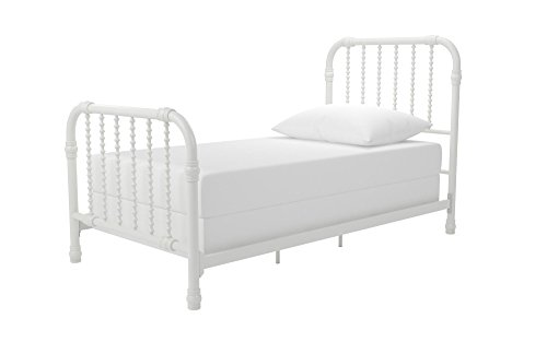Little Seeds Monarch Hill Wren Metal Bed Twin, White (Bed Iron White)