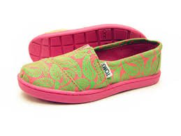 Tom's Youth Classics Green Paisley Size 5