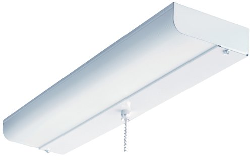 Lithonia Lighting CUC8 15 120 LP S1 M4 18-Inch 1-Light Flush Mount Fluorescent Ceiling Closet Light, - White Fluorescent Light Ceiling