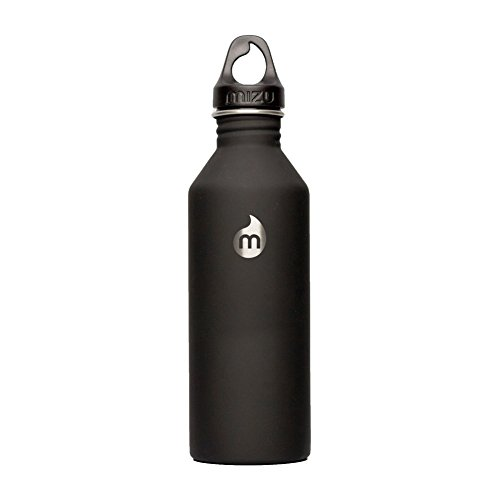 MIZU M8 Water Bottle Soft Touch Black, 800ml