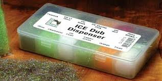Custom Trout Ice Dub Dispenser - 12 Popular Colors - Fly Tying - 12 Compartment Fly Box