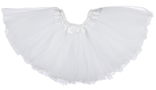Dancina Tutu Baby Girls Cute Princess Dress up Costume Soft Tulle Skirt Outfit 6-24 Months White (Quick Cute Halloween Costume)